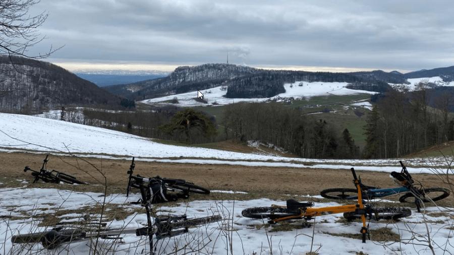 Abschluss-Bike-Tour Winterbiken März 2021